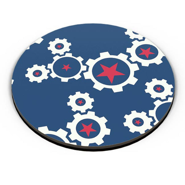 Star Wheel with blue background Fridge Magnet Online India