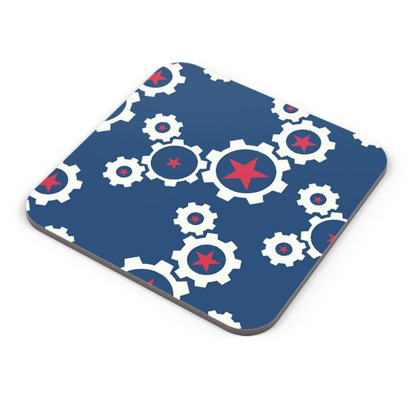 Star Wheel with blue background Coaster Online India