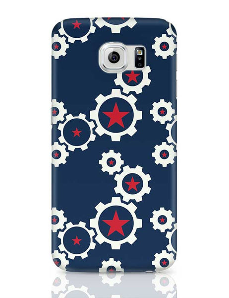 Star Wheel with blue background Samsung Galaxy S6 Covers Cases Online India