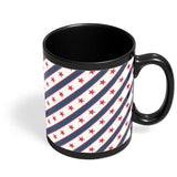 Red Star with grey background Black Coffee Mug Online India