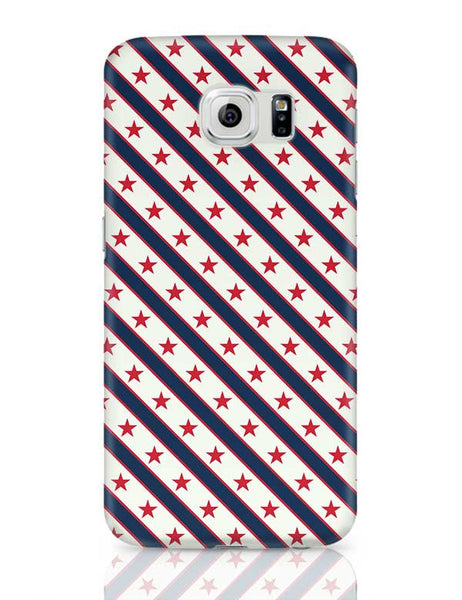 Red Star with grey background Samsung Galaxy S6 Covers Cases Online India
