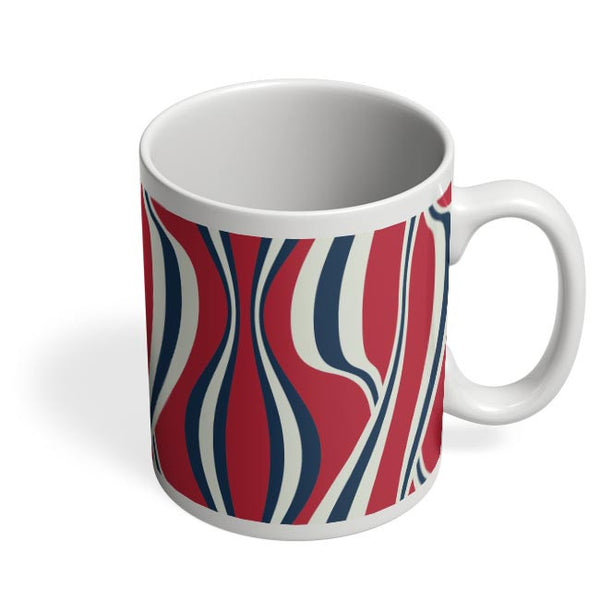 Waving Ribbon with red bacground Coffee Mug Online India