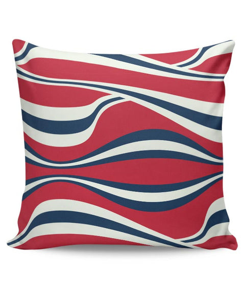Waving Ribbon with red bacground Cushion Cover Online India