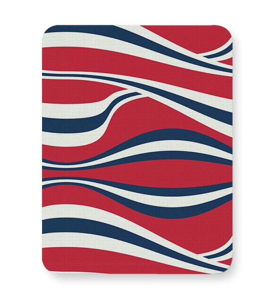 Waving Ribbon with red bacground Mousepad Online India