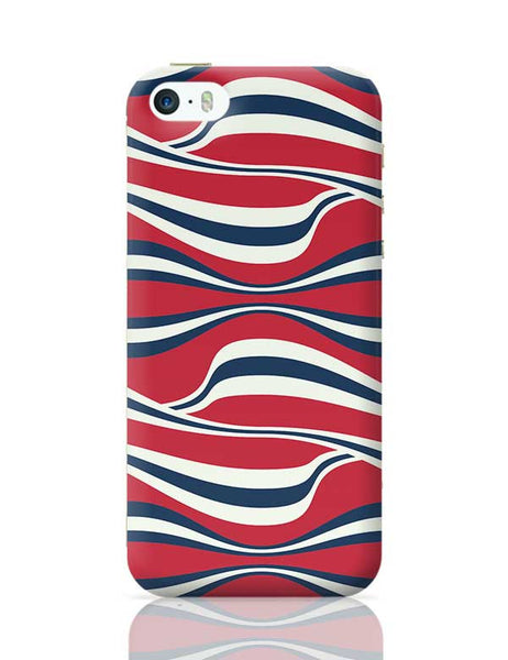 Waving Ribbon with red bacground iPhone 5/5S Covers Cases Online India