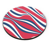 Waving Ribbon with red bacground Fridge Magnet Online India