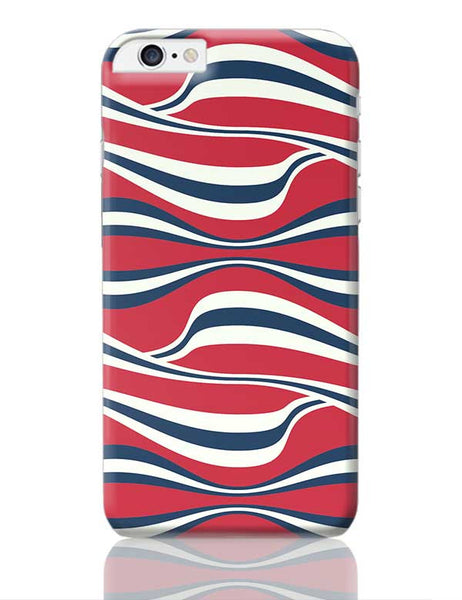 Waving Ribbon with red bacground iPhone 6 Plus / 6S Plus Covers Cases Online India