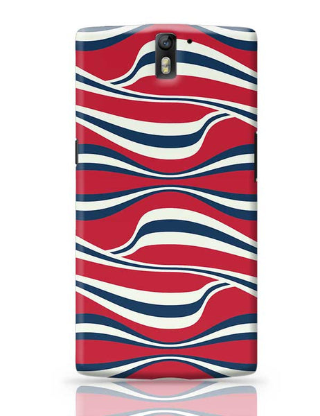 Waving Ribbon with red bacground OnePlus One Covers Cases Online India