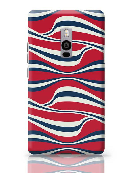 Waving Ribbon with red bacground OnePlus Two Covers Cases Online India