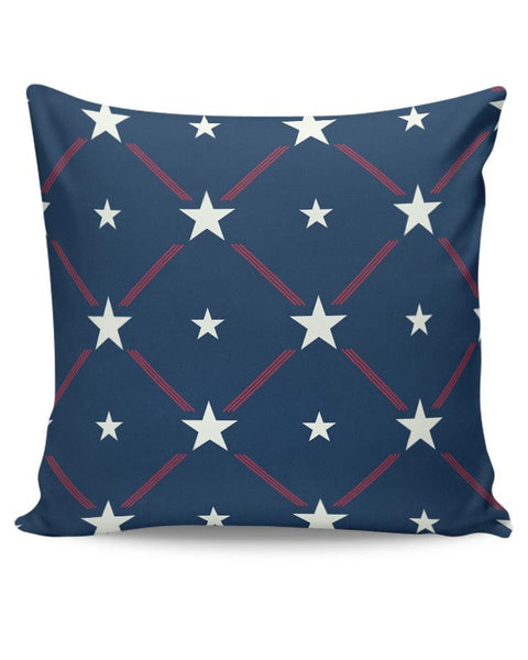 White Star with blue background Cushion Cover Online India