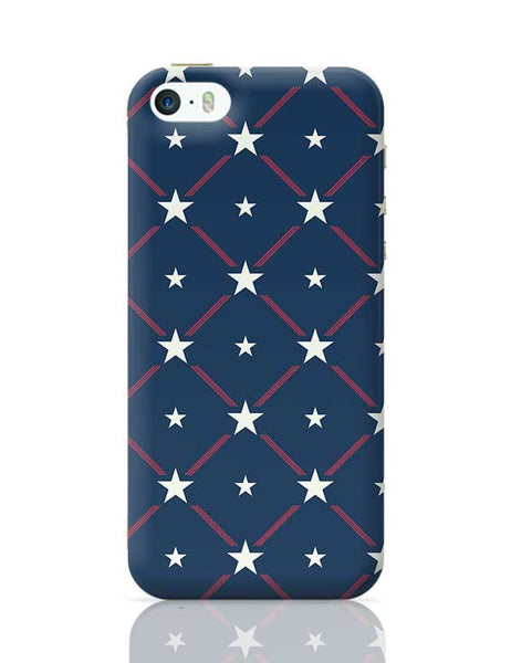 White Star with blue background iPhone 5/5S Covers Cases Online India