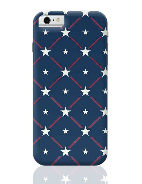 White Star with blue background iPhone 6 / 6S Covers Cases