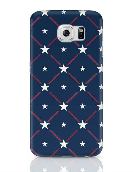 White Star with blue background Samsung Galaxy S6 Covers Cases Online India