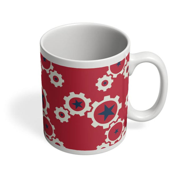 Star Wheel with red background Coffee Mug Online India