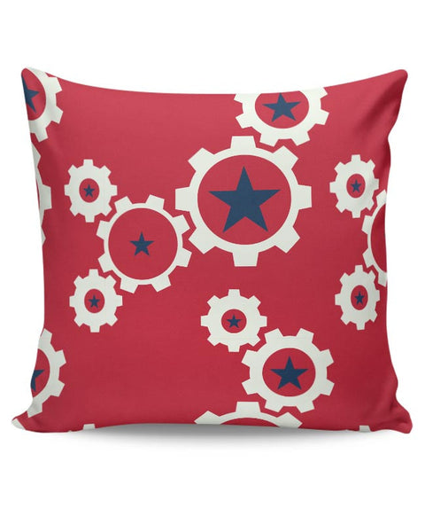 Star Wheel with red background Cushion Cover Online India