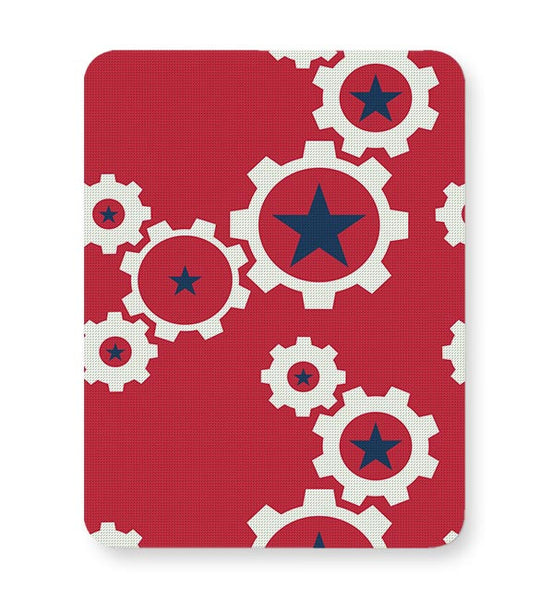 Star Wheel with red background Mousepad Online India