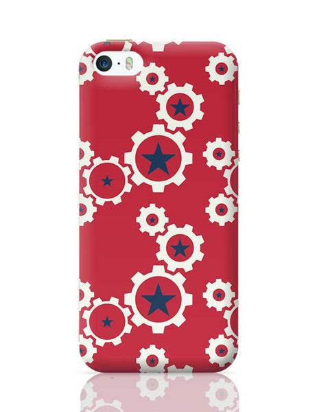Star Wheel with red background iPhone 5/5S Covers Cases Online India
