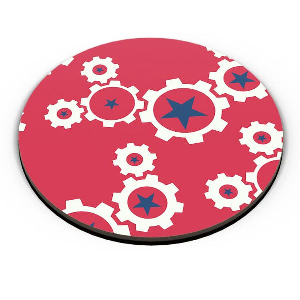 Star Wheel with red background Fridge Magnet Online India