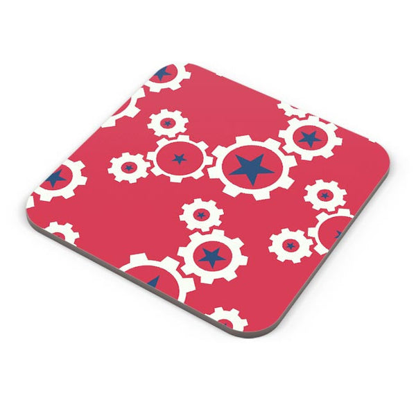 Star Wheel with red background Coaster Online India