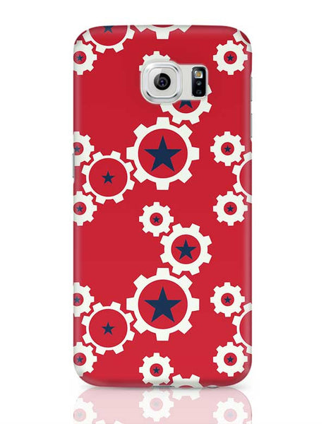 Star Wheel with red background Samsung Galaxy S6 Covers Cases Online India