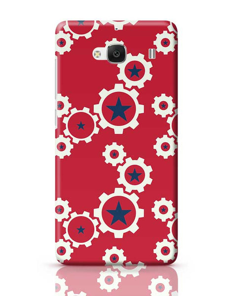 Star Wheel with red background Redmi 2 / Redmi 2 Prime Covers Cases Online India