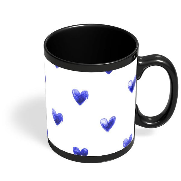 Blue Heart Black Coffee Mug Online India