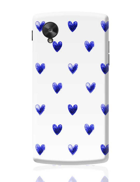 Blue Heart Google Nexus 5 Covers Cases Online India