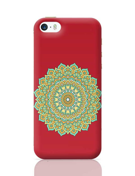 Boho design with red background iPhone 5/5S Covers Cases Online India