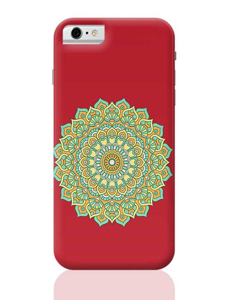Boho design with red background iPhone 6 / 6S Covers Cases
