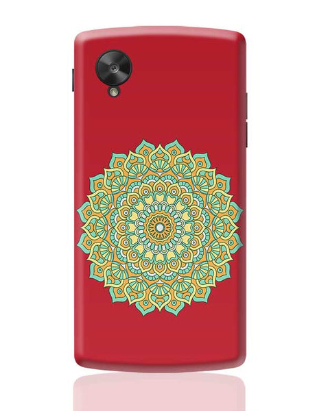 Boho design with red background Google Nexus 5 Covers Cases Online India