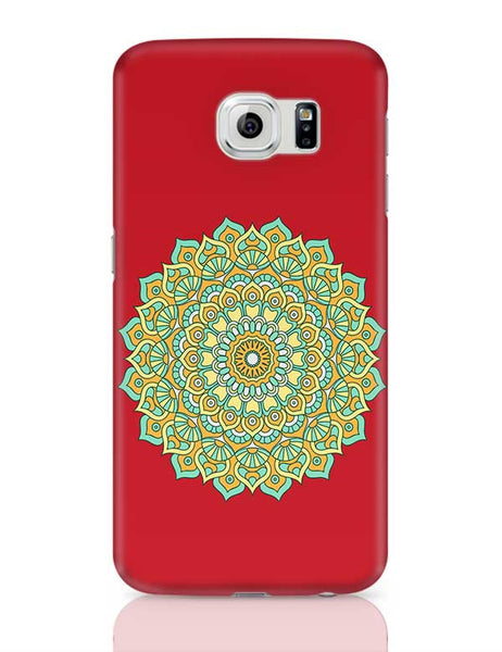 Boho design with red background Samsung Galaxy S6 Covers Cases Online India