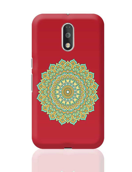 Boho design with red background Moto G4 Plus Online India