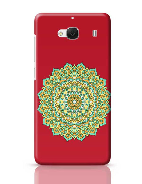 Boho design with red background Redmi 2 / Redmi 2 Prime Covers Cases Online India