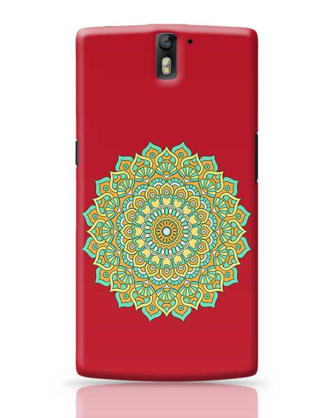 Boho design with red background OnePlus One Covers Cases Online India