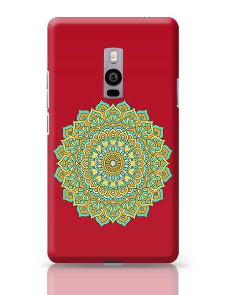 Boho design with red background OnePlus Two Covers Cases Online India
