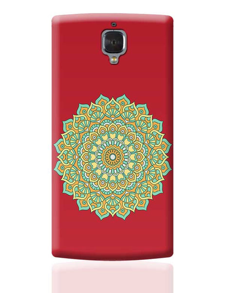 Boho design with red background OnePlus 3 Covers Cases Online India