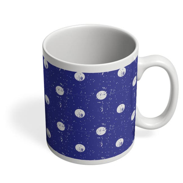 White Polka Dots  with blue background Coffee Mug Online India