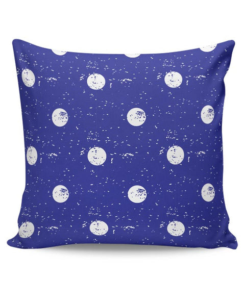 White Polka Dots  with blue background Cushion Cover Online India