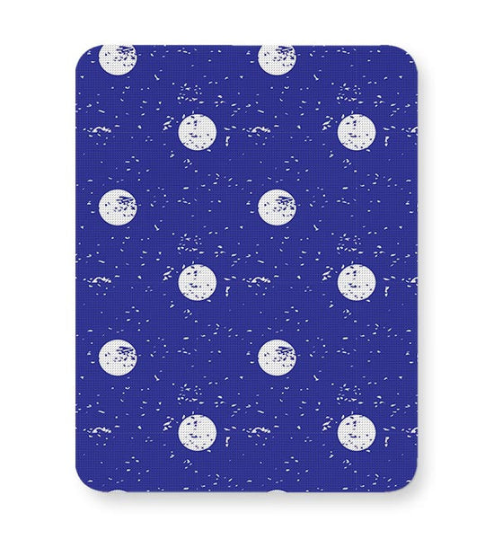 White Polka Dots  with blue background Mousepad Online India