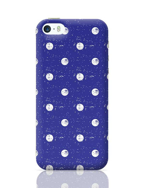 White Polka Dots  with blue background iPhone 5/5S Covers Cases Online India