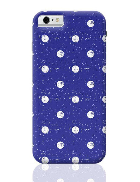 White Polka Dots  with blue background iPhone 6 6S Covers Cases Online India