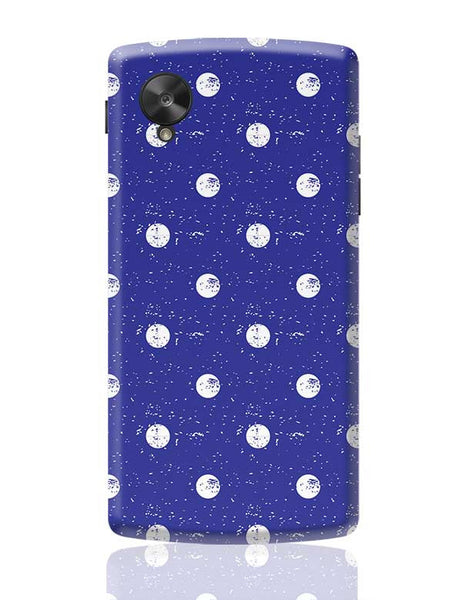 White Polka Dots  with blue background Google Nexus 5 Covers Cases Online India