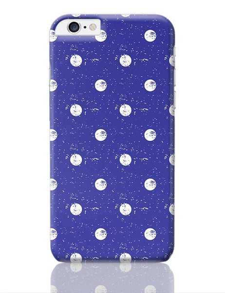 White Polka Dots  with blue background iPhone 6 Plus / 6S Plus Covers Cases Online India