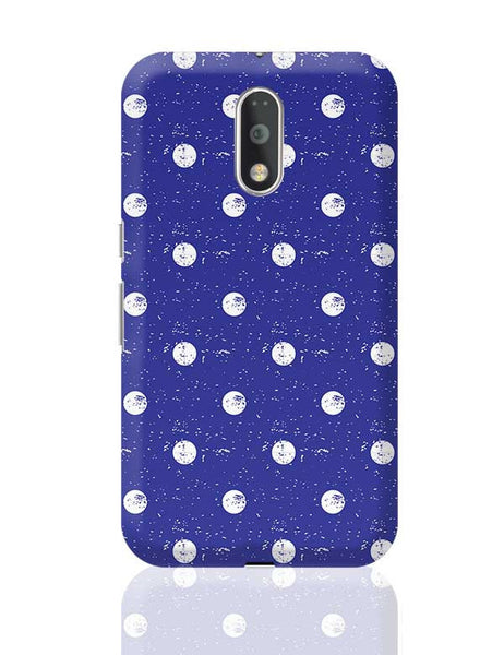 White Polka Dots  with blue background Moto G4 Plus Online India