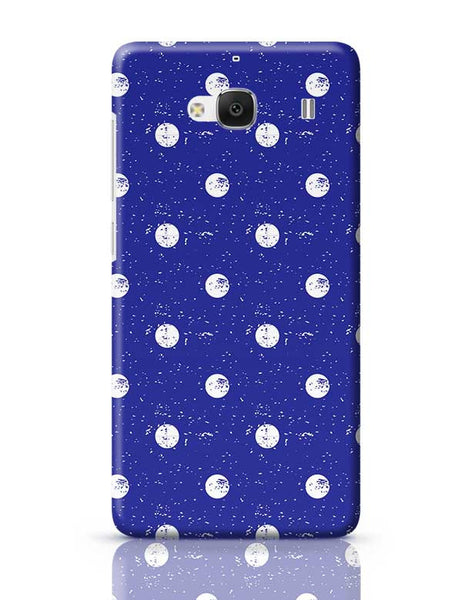 White Polka Dots  with blue background Redmi 2 / Redmi 2 Prime Covers Cases Online India