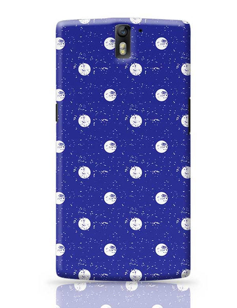 White Polka Dots  with blue background OnePlus One Covers Cases Online India