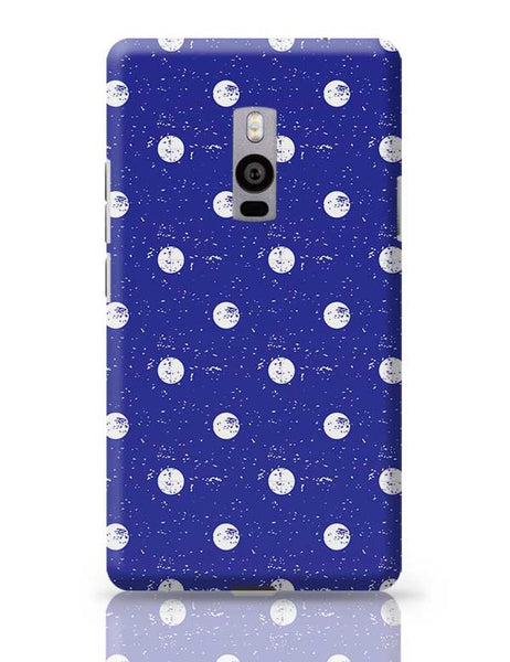 White Polka Dots  with blue background OnePlus Two Covers Cases Online India