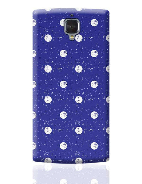 White Polka Dots  with blue background OnePlus 3 Covers Cases Online India