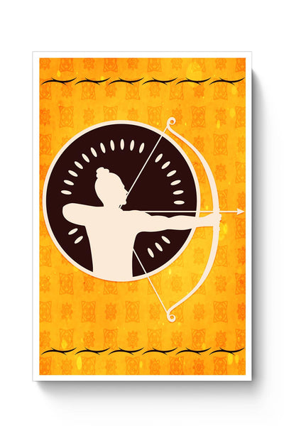 Shree Ram with bow and arrow Poster Online India