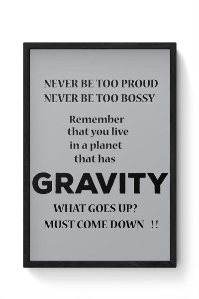 Gravity Framed Poster Online India